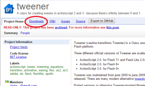 Flash:ActionScript3.0でTweenerのテスト